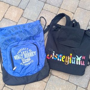 Disneyland and Disney World Set of 2 Backpacks